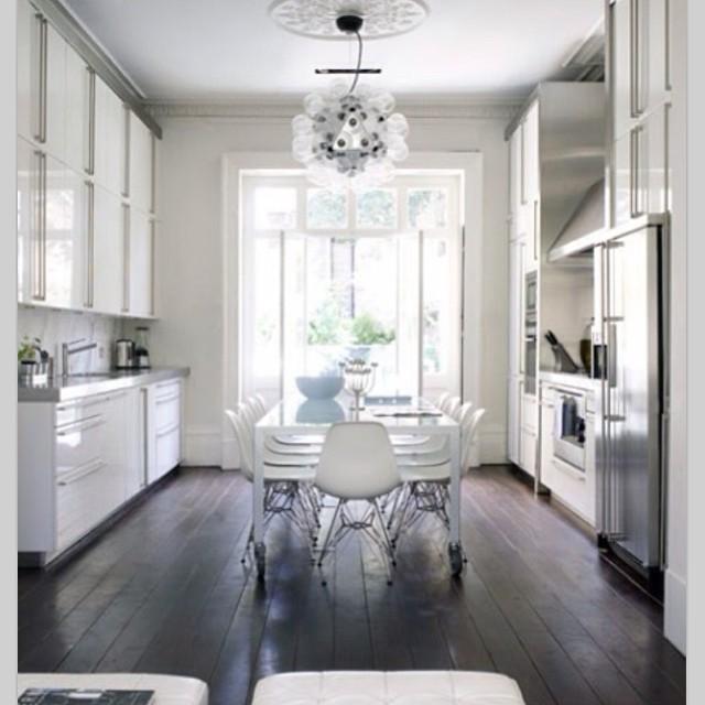 Idéias para pequenos espaços Cozinha integrada e sala de jantar para desfrutar de um ...