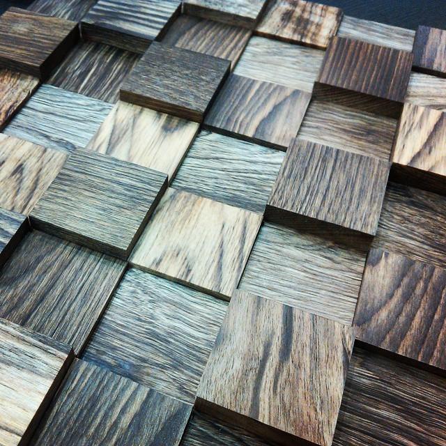Mosaico de madeira de oliveira natural !! #losecoconstruyen #edificiodeeco #ecoac ...