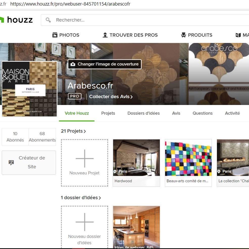 Encontre nossos projetos em Houzz na França !!! Encontre-nos na exposição ...