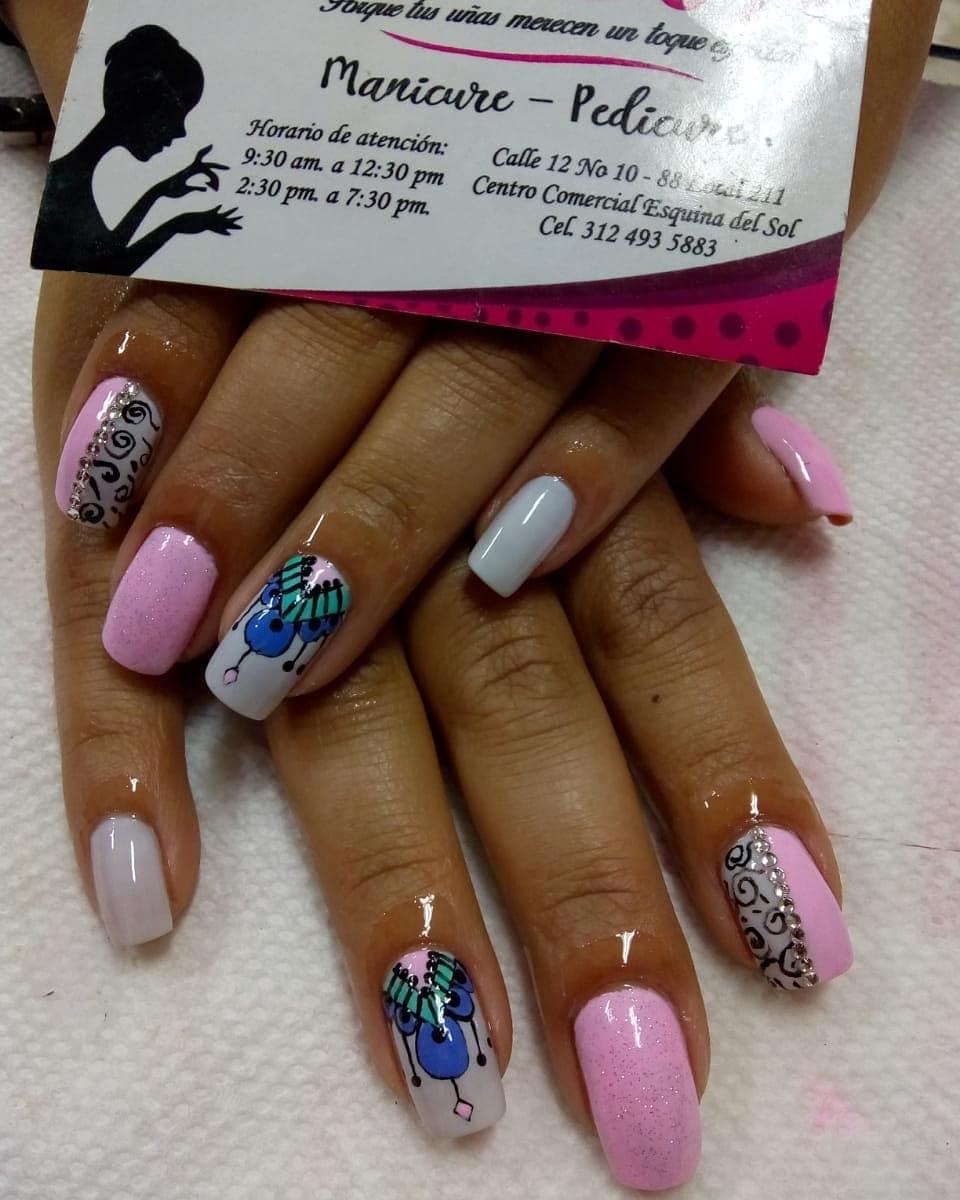Por: yecenia lache # decoraciondeuñas #nails #amoralarte #hermosas # decoradosuñas ...