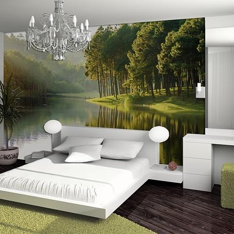 Um refúgio de paz no seu quarto. Uma paisagem para a sua medida que lhe dá a ...