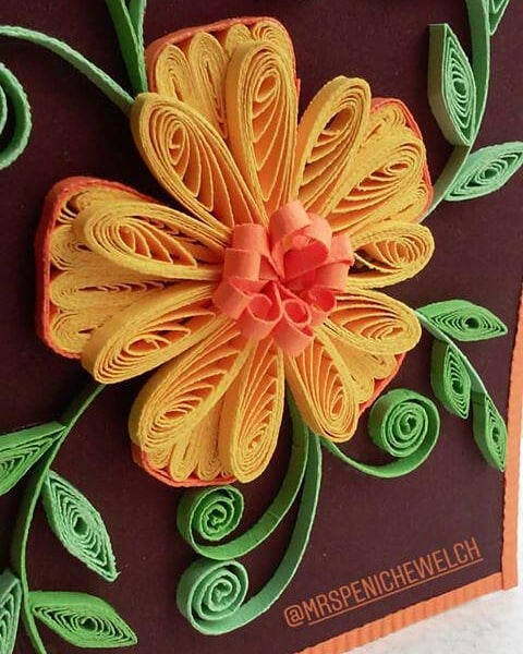 #quilling #quillingart #filigrana #flor #leaves #flores #feitoamao #card #hech ...