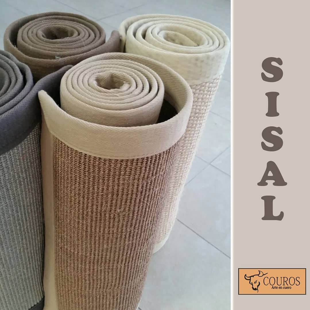 Tapetes de fibra natural de sisal são perfeitos para espaços interiores, como ...