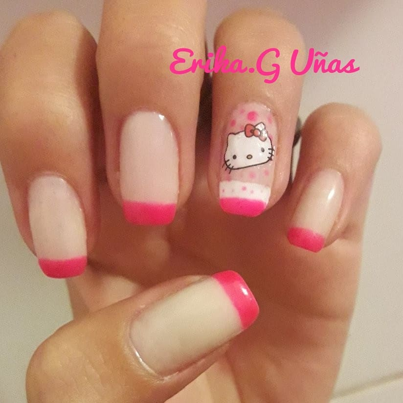 gatinha # uñasdegel #nails #nailselfie # uñasperfectas # uñasbonitas # uñasbellas #d ...