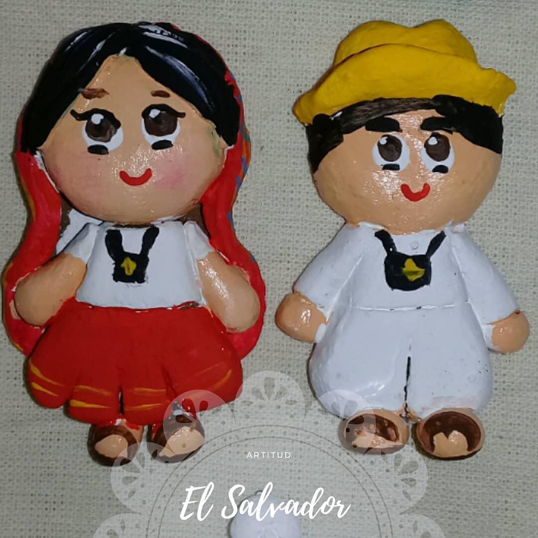 El Salvador é tradição! Imagens de identidade de El Salvador Moldado à mão ...