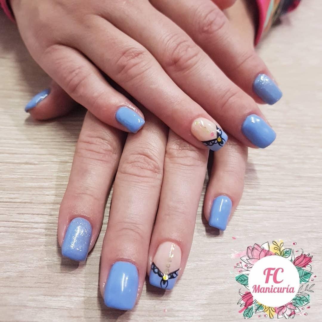 Um mês de crescimento Semi Permanent Russian Manicure #cipo #cipolletti #rionegro ...