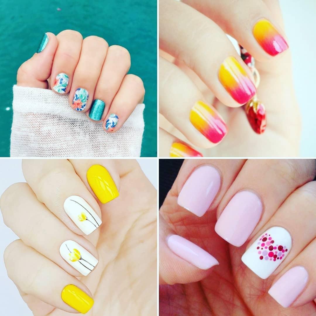 Idéias para pintar suas unhas é primavera # nails # decoraciondeuñas ...