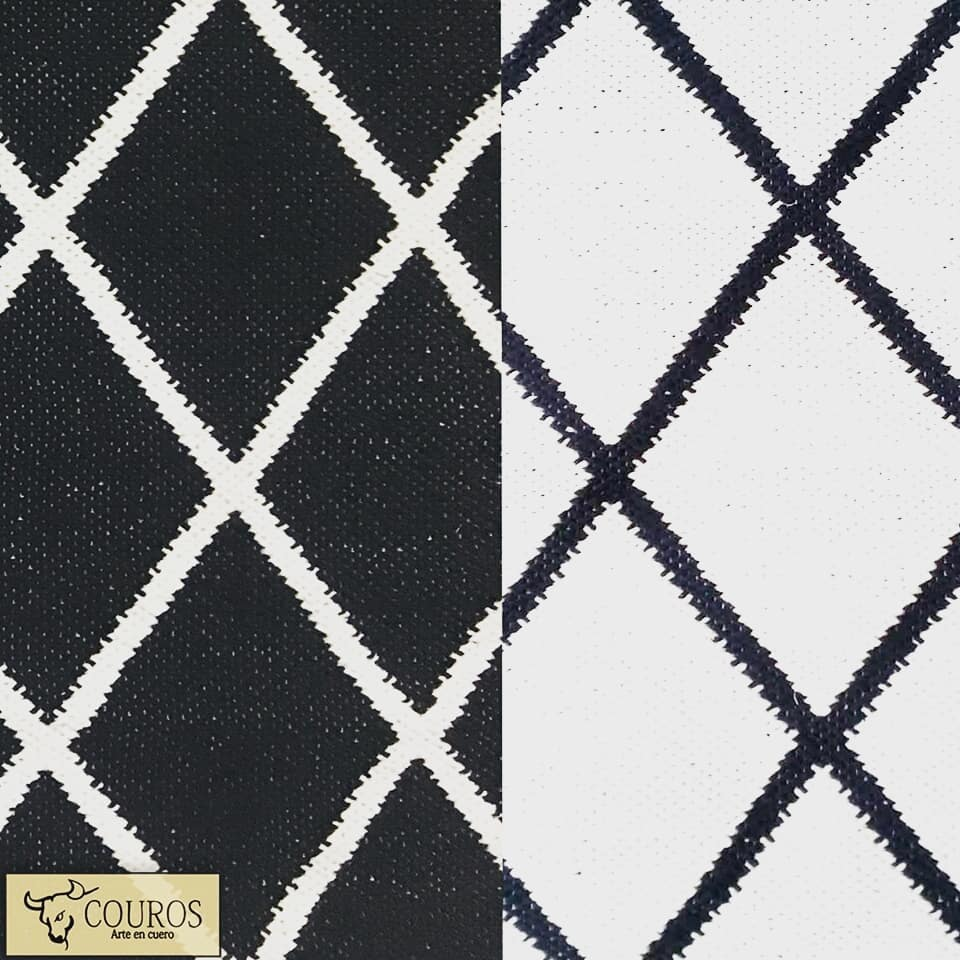 Preto e branco! Design reversível de tapete de algodão% da nossa linha econômica ...