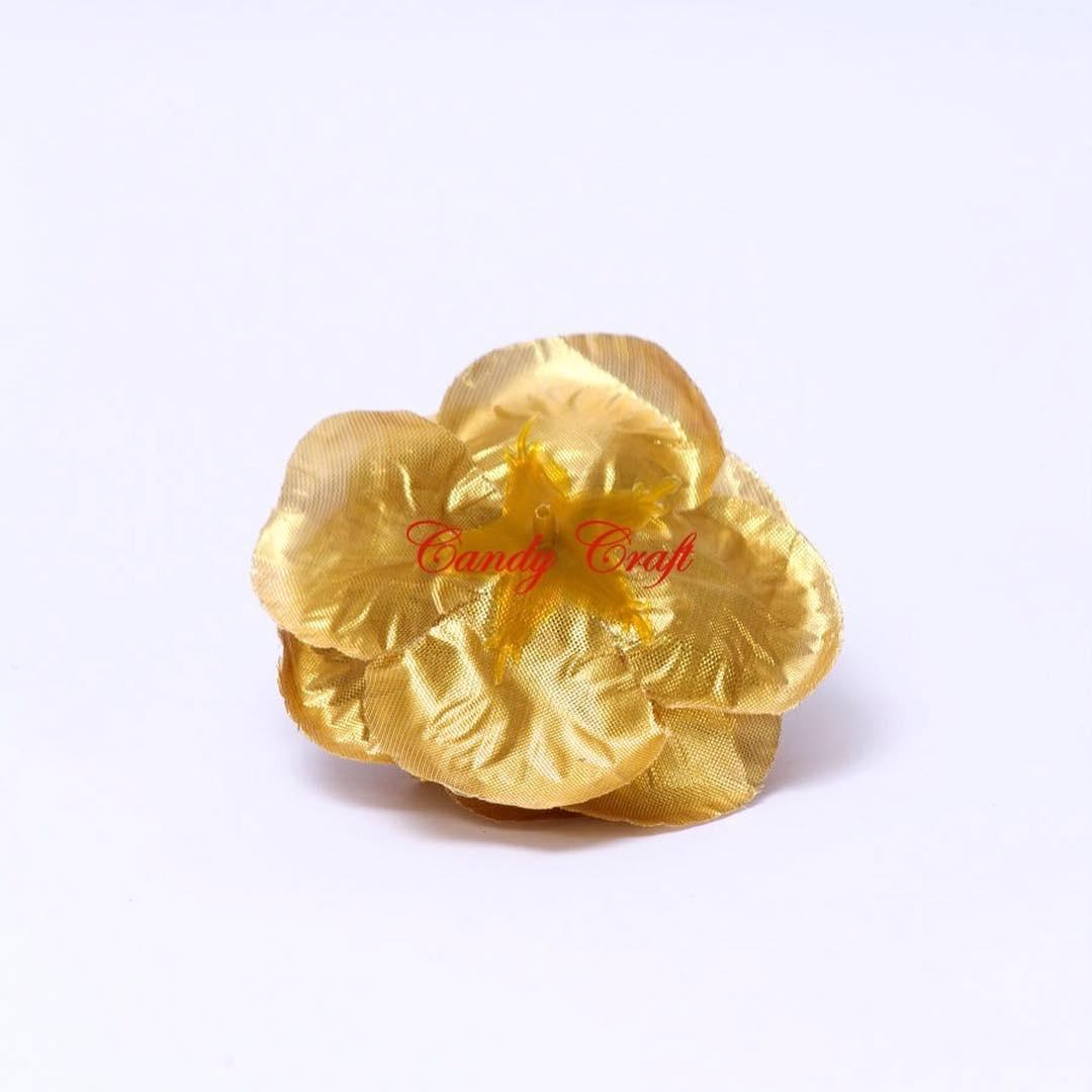 Flores de Tecido Tipo B Ouro ou Prata! Ideal para decorar centros ...