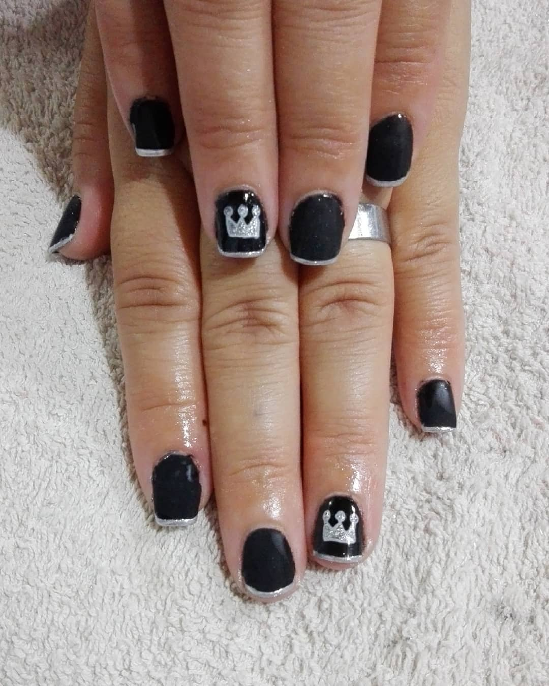 PRETO Semi-envidraçada com nail art e francês Morón, Zona Oeste Pagamento com ...