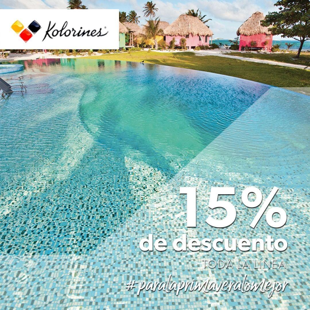 Projete sua piscina ideal e aproveite o desconto de 15% em Kolorines. #elsurtid ...