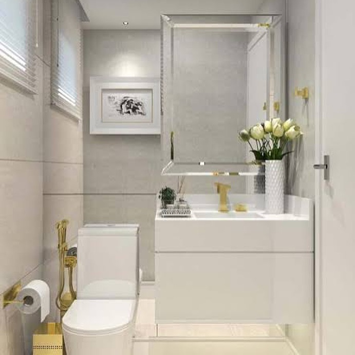 O charme de um lavabo decorado para receber! Decorar é um ato de amor! #lavabo #...