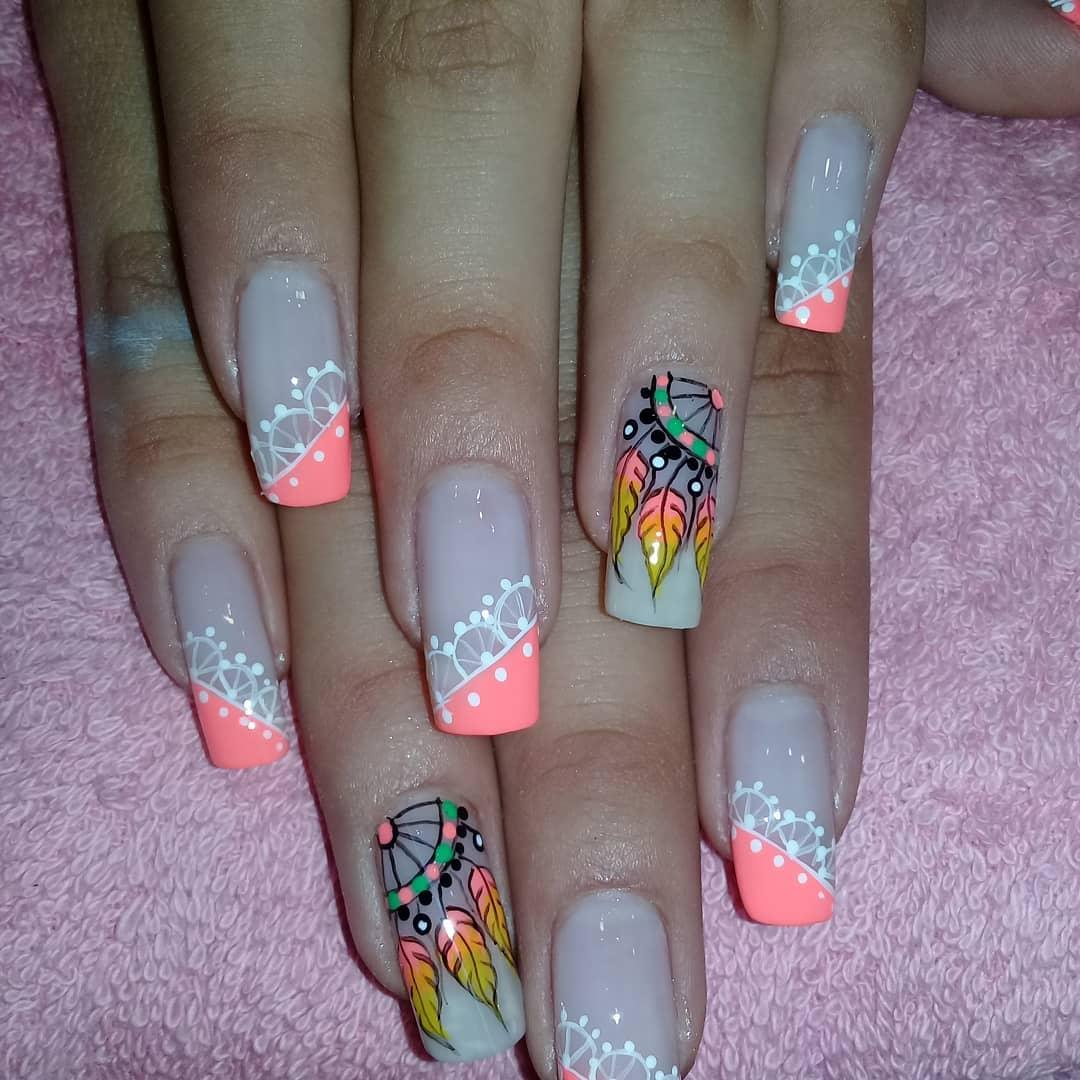 Deixe-se ser pego em apanhador de sonhos de spa de unhas mágicas #magicnailsspa #nails #nailsart ...