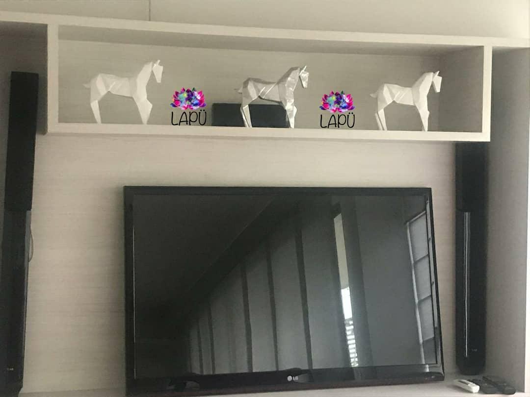 Cavalos Origami, disponíveis na cor que você mais gosta. @lapu_ feito com ...