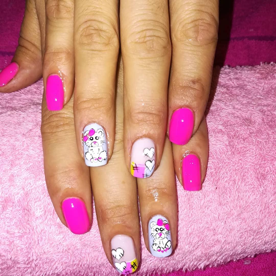 Ositos !! mágico unhas spa #magicnailsspa #nails #nailsart # magiaentusuñas #decorac ...