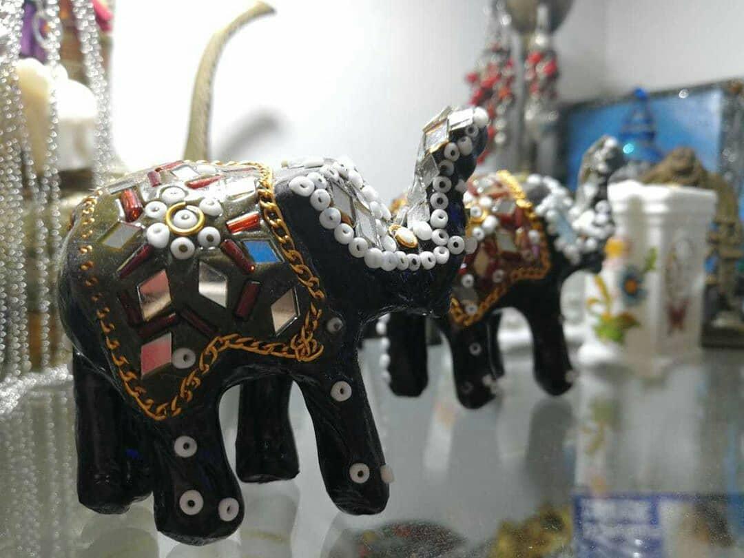 Um elefante é um símbolo de boa sorte em muitas culturas. A localização do ...