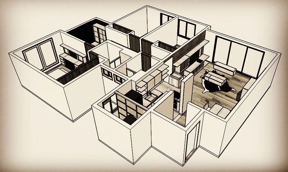 . . . Projeto Cedritos. Remodelação, design de interiores, design de carpintaria e ...