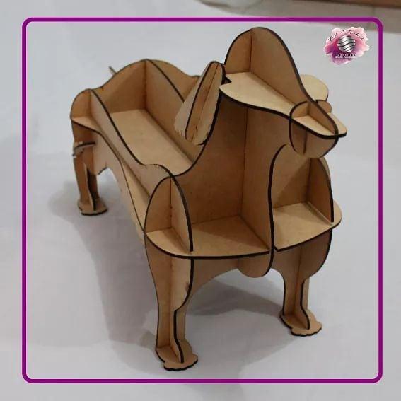 Você é um amante de cães? Prateleira em forma de cão em #MDF, ideal como decoração ...