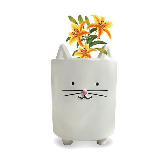 MACETA KITTY $ 290 Pote de cerâmica bonito e colorido em forma de gato. Lle ...