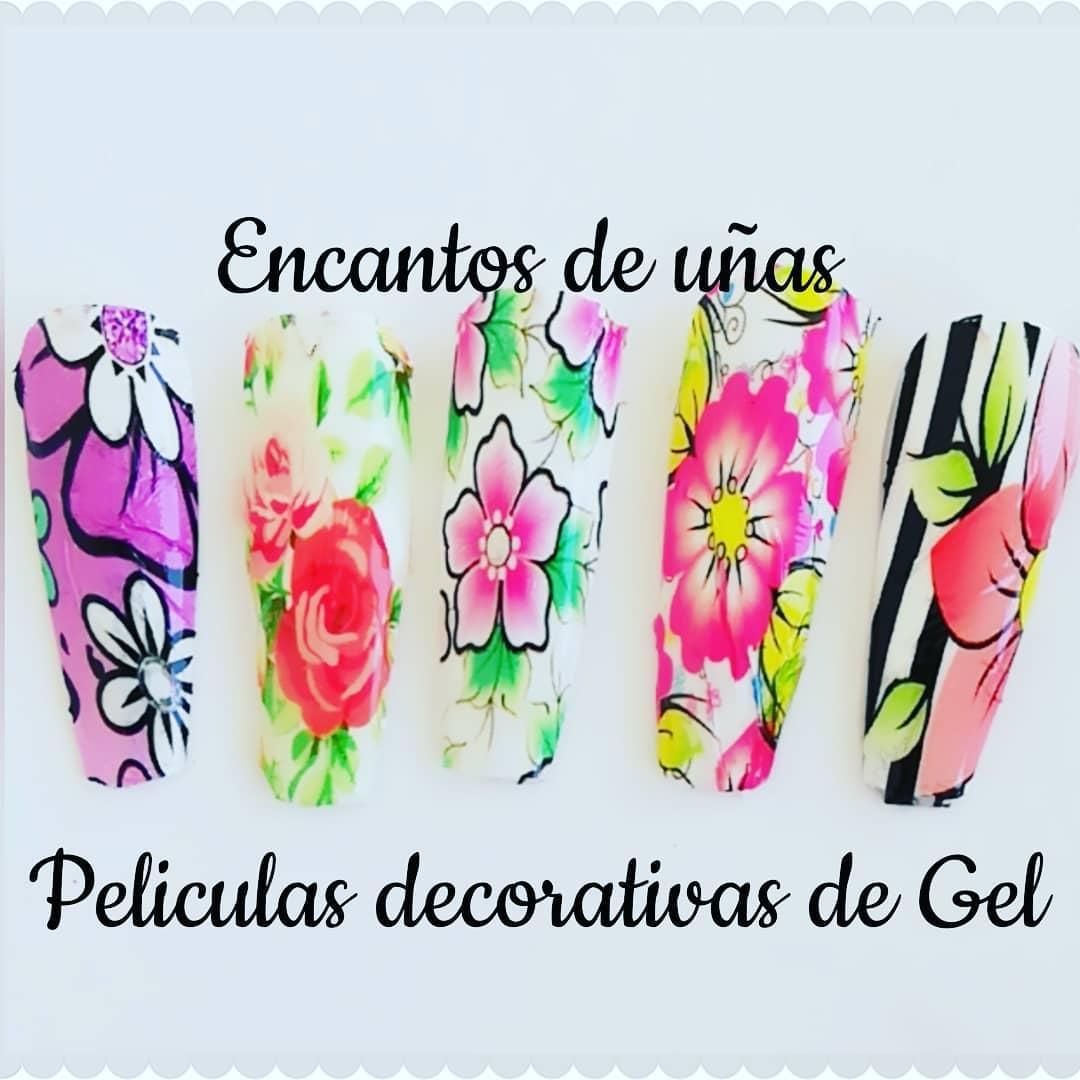 Uma beleza de desenhos SOMOS FABRICANTES  Folhas de gel, nail art, para todos ...