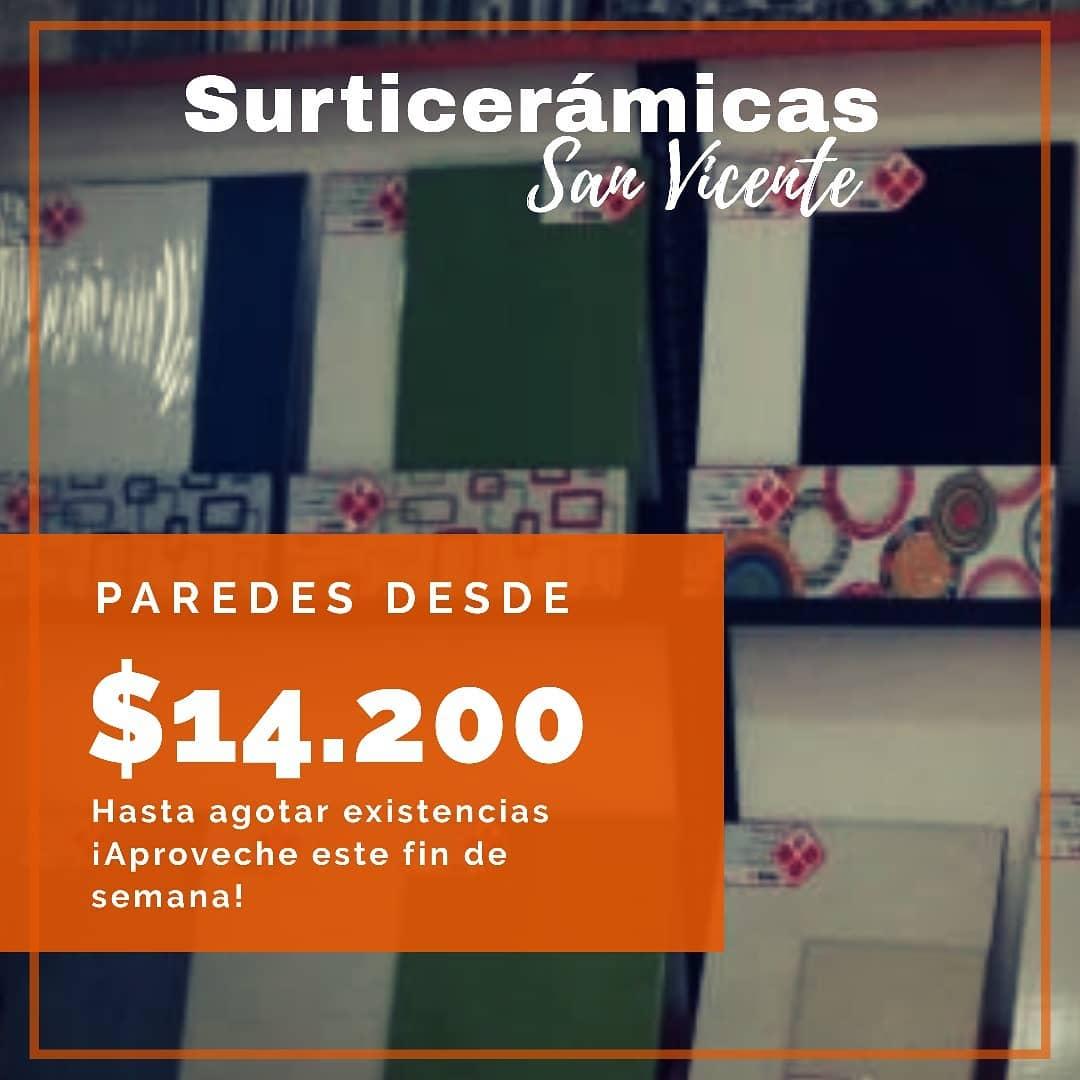 #SurticeramicasSanVicenteTem paredes a partir de $ 14.200 em referências selecionadas ...