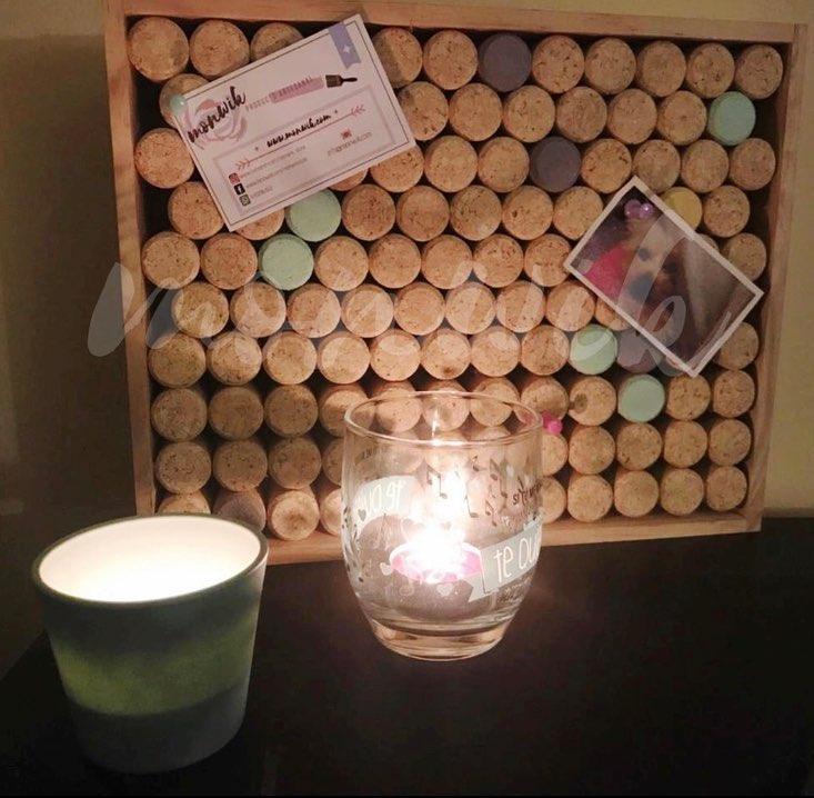 ~  Decore o canto favorito da sua casa com esta prancha feita com rolhas e ...