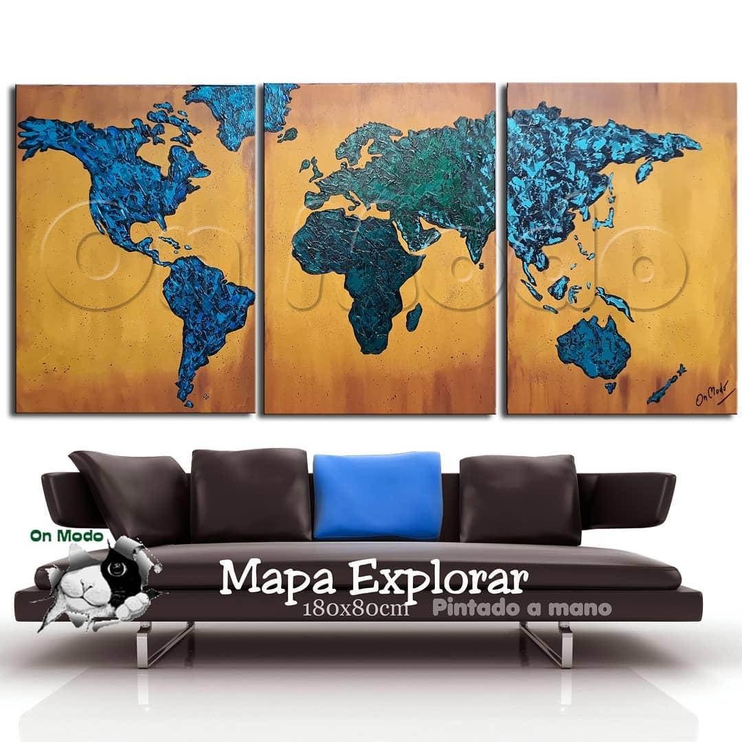 Mapa Explorar  Texturizado  ℕ  ℕ Pintados à mão! Texturizado! Está na hora ...