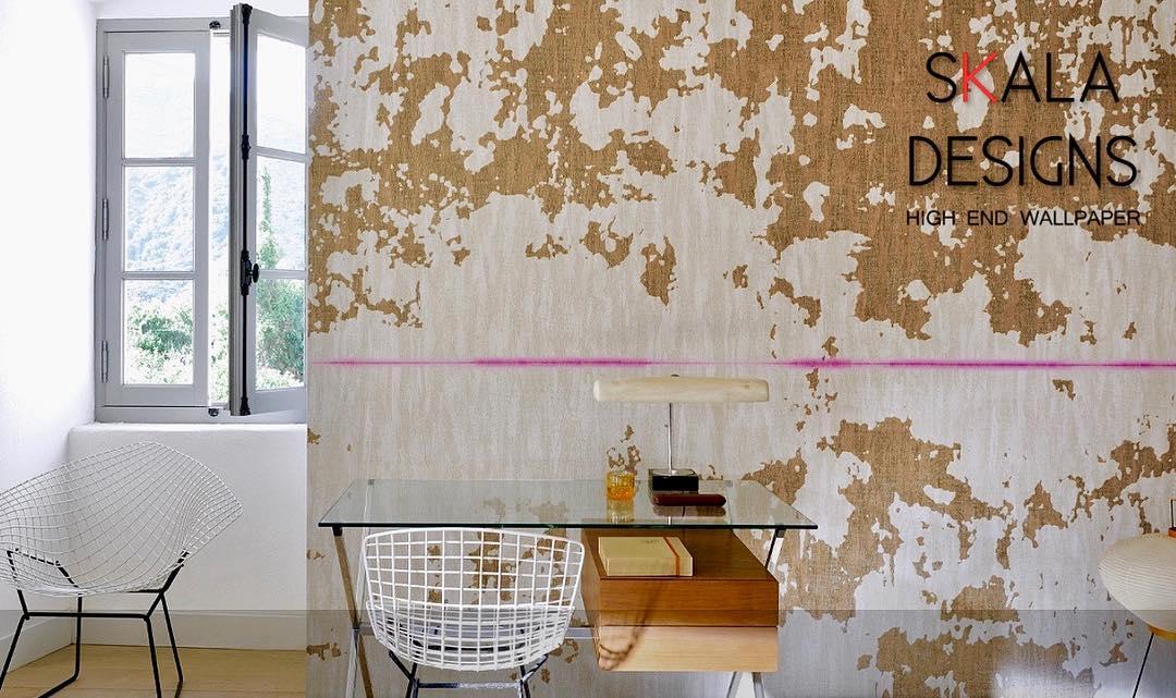 Levar moda às suas paredes • Este papel de parede artesanal atraente é feito com ...