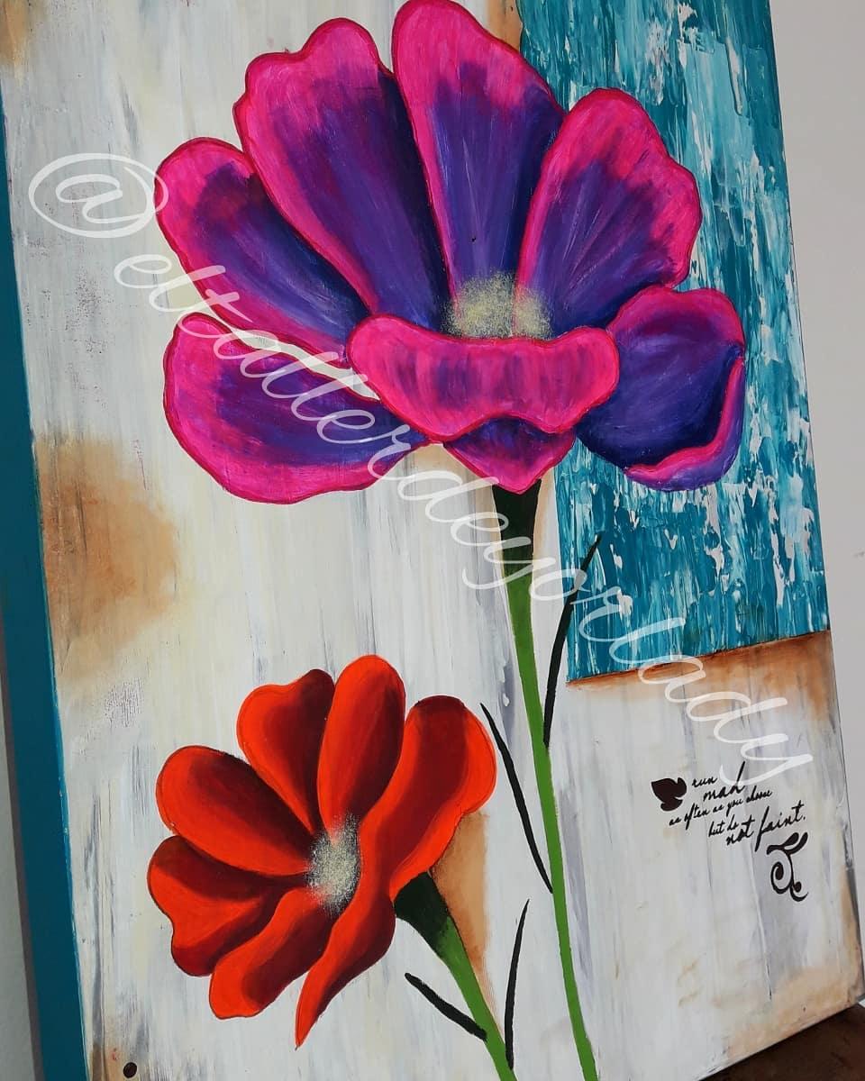 Esta bela pintura com diferentes técnicas e muita cor você pode encomendar aqui ...