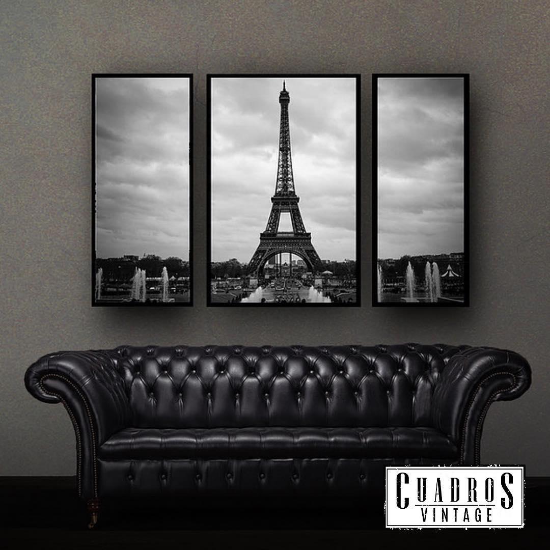 NOVO! Conjunto Torre Eiffel (3 Pinturas) Conjunto de 3 pinturas com motivo de reprodução ...