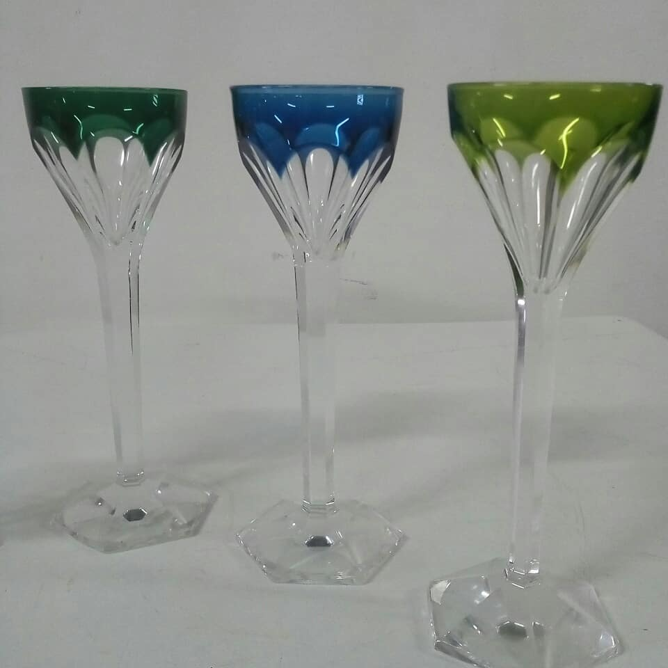 Cristal St. Lambert  Altura: 13 cm  #copes #crystal #valslambert # decoração ...