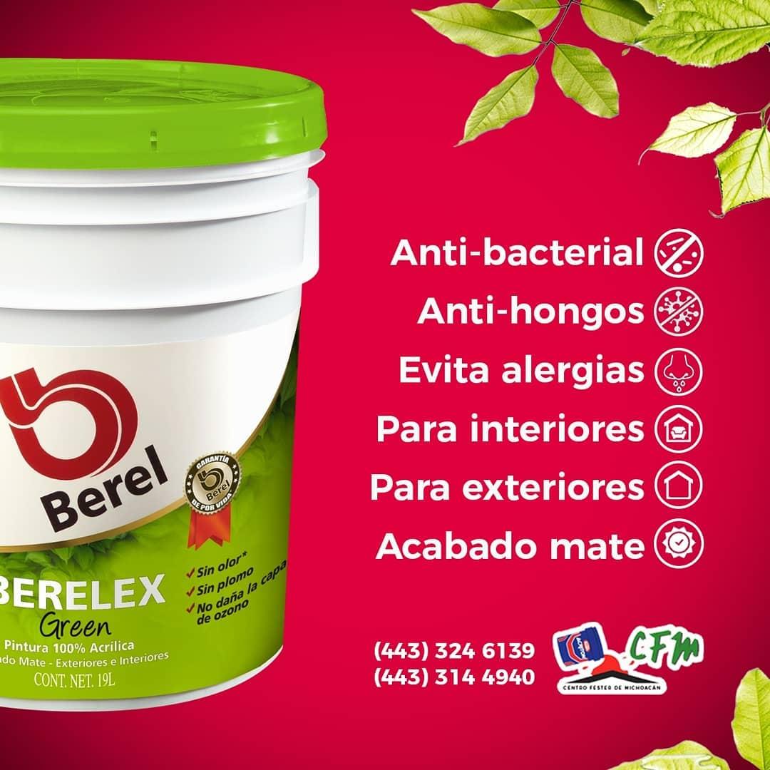 Berelex Green é uma tinta 100% acrílica sem odor e compostos orgânicos Zero ...