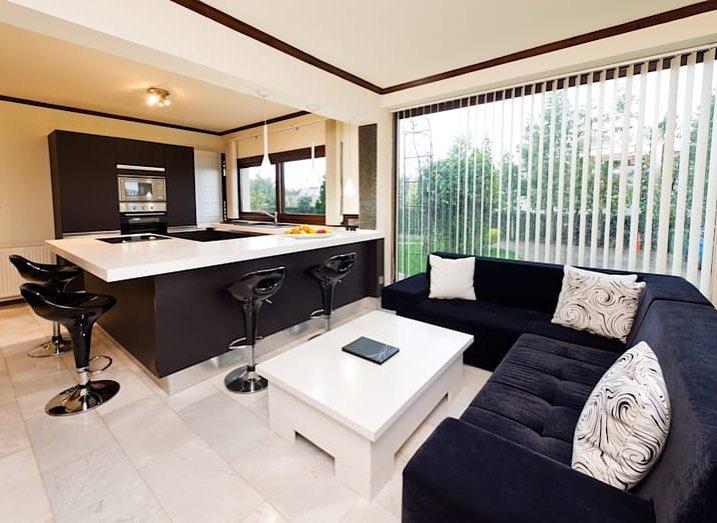 Espaços integrados + decoração em preto e branco #home # decoration #hogar #ideas ...