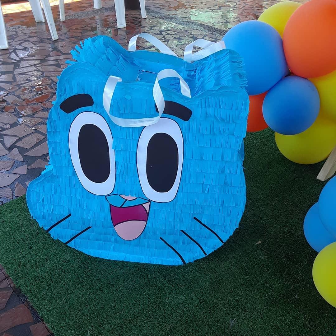 Piñata Gumball  #gumball # piñata #gumballparty #decogumball # decoração #fiesta ...
