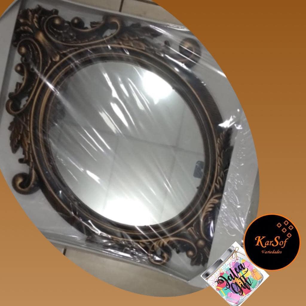 Decoração vintage bonito espelho oval cor dourada .... Medidas 70 * 40cm  Para p ...