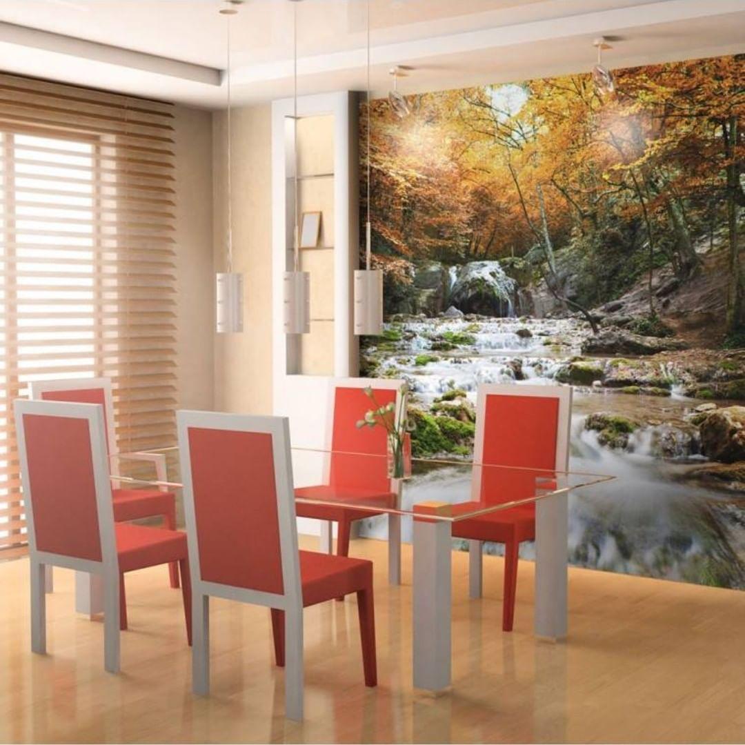 Trazer a vida para as nossas salas de jantar com uma bela paisagem fará com que as refe ...