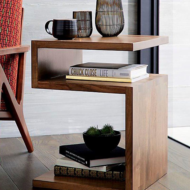 Uma mesa lateral de design moderno que irá atrair a atenção dos seus convidados ....