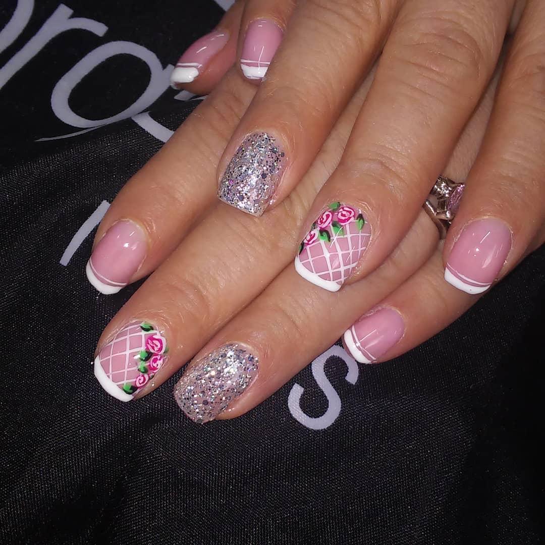 #semipermanente #frenchmanicure #glitters # decoraciondeuñas #manicure ...