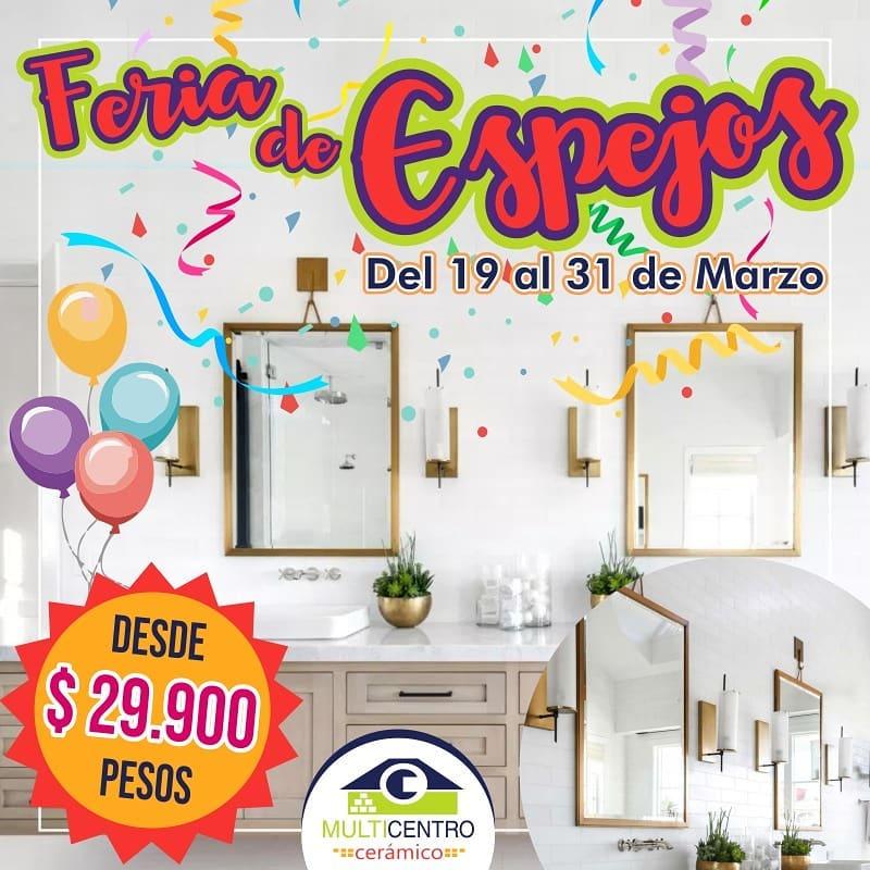 Aproveite a grande feira de espelhos de 19 a 31 de março, o Multicenter Cerâmico ...