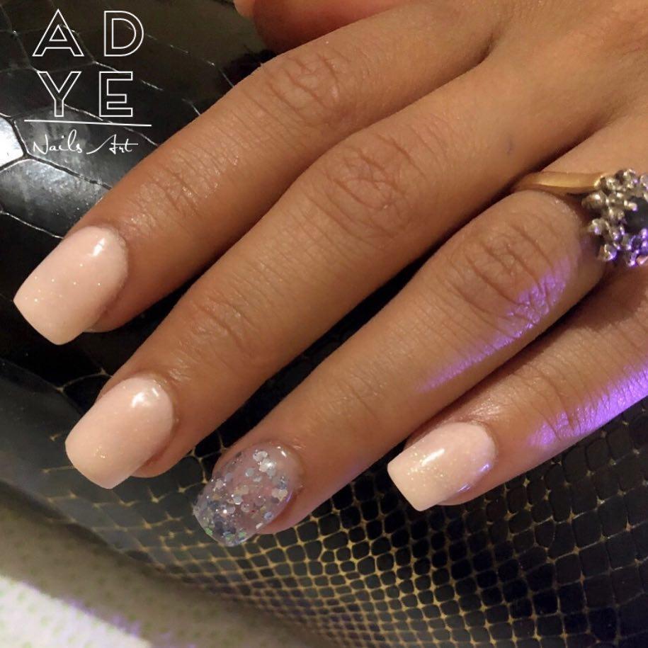 Pregos Esculturais #Nude . . . . . . . #nails #glitternails #nailsofinstagram #na ...