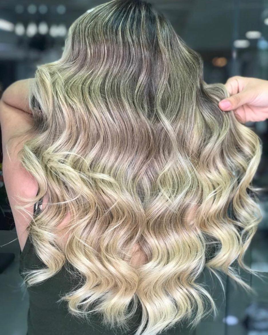 Antes e depois de mudanças de cor e mudanças de cor de cabelo, sobrancelhas Pergunte pelo seu c ...