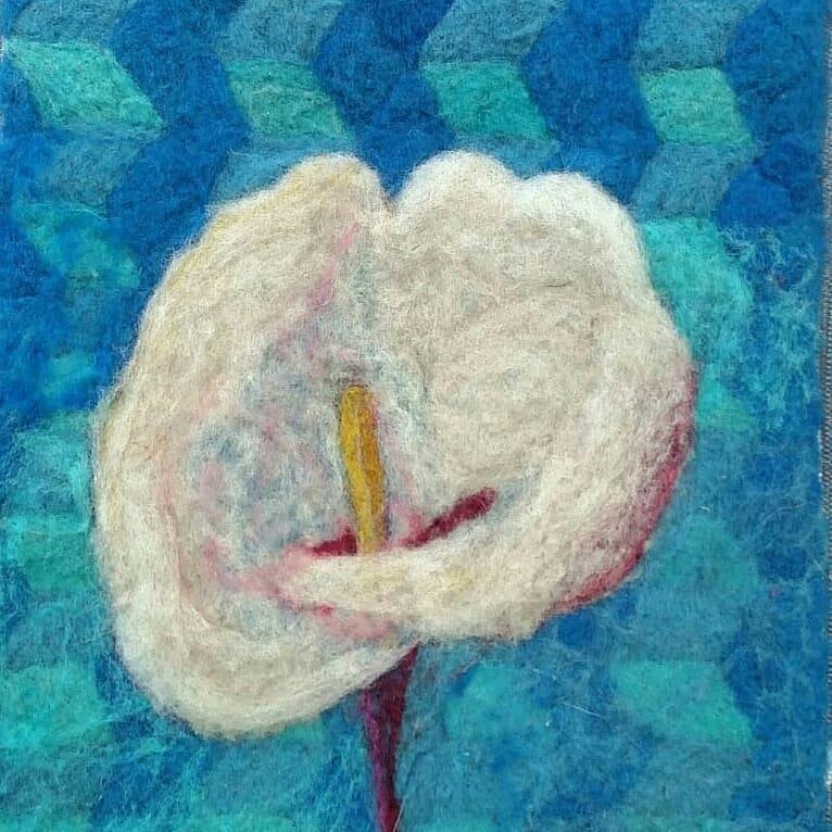 """""""Riacho"""" Velo em tela 40 × 30 Disponível  #vellon #art #cala #natural #flo ..."""