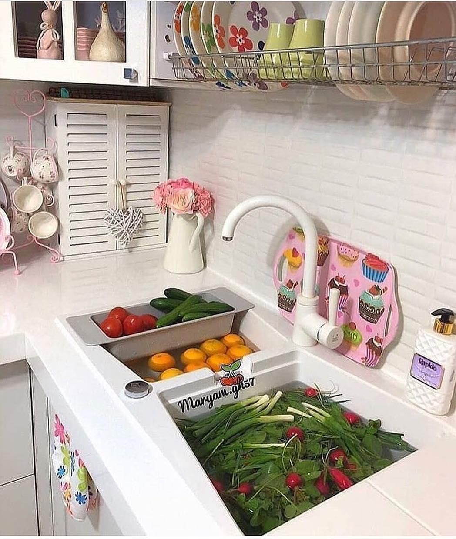 Você acha que é higiênico lavar legumes e frutas na pia? Como você faz isso? . ...