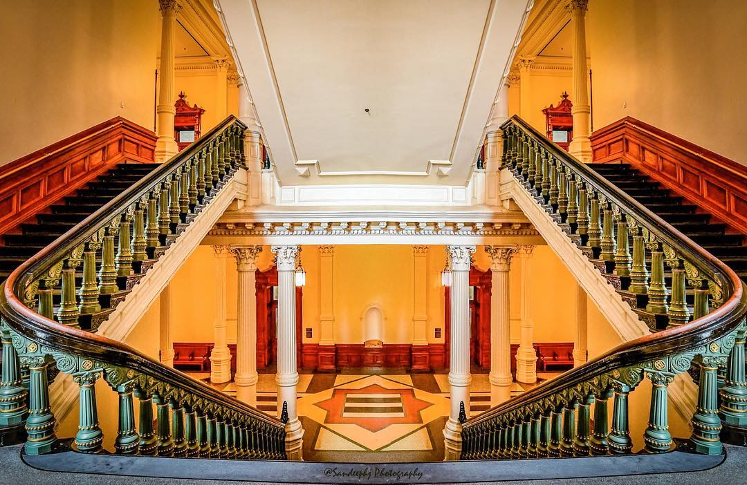 Maior capitólio estadual dos EUA Caso da escada # interior ...