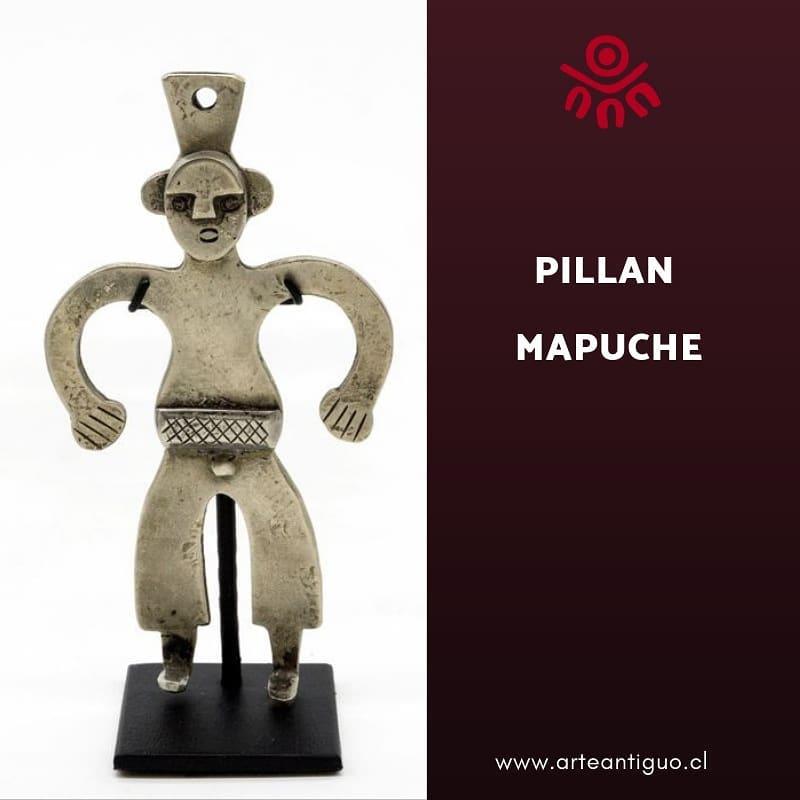 Pequena figura humana para uso cerimonial, representando um ancestral mapuche. L ...