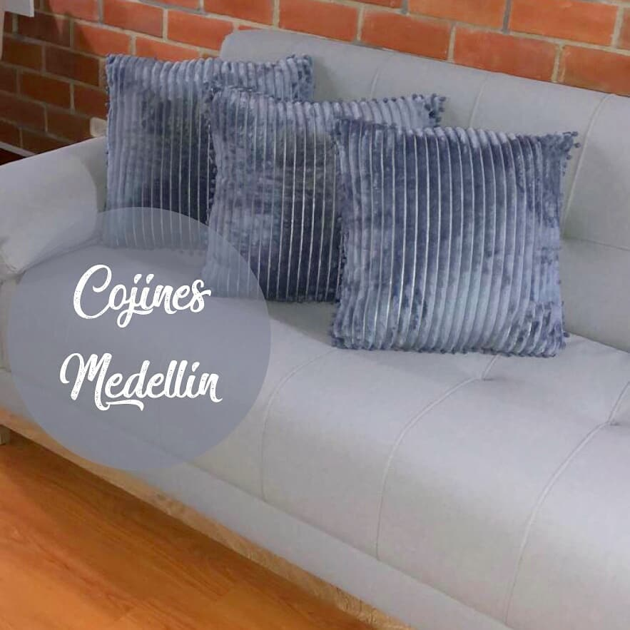 Almofadas Grey Blue com textura no valor de US $ 45.000 mil pesos cada!  Perfeito para ...