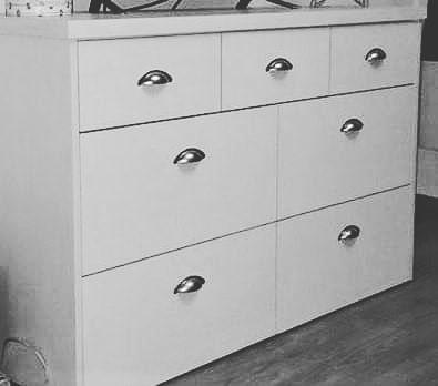 Cômoda com alças Balde modelo # móveis # melamina # decoração # sala de estar # sala de jantar # co ...