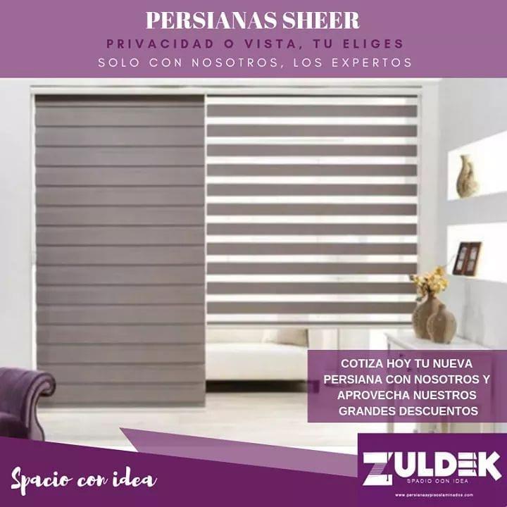 Com nossas persianas SHEER, você pode escolher entre privacidade ou vista ....