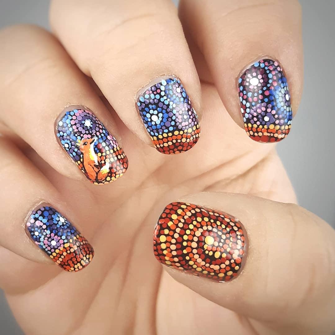 Fazia muito tempo desde que passei um tempo pintando minhas unhas assim. Vamos ver quanto tempo eles duram ...