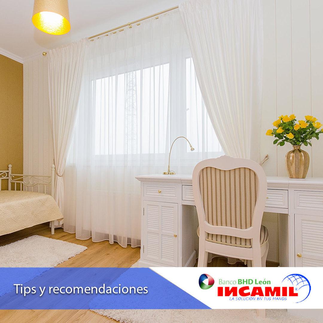 Se houver quartos pequenos em sua casa, tente otimizá-los com cortinas de ...
